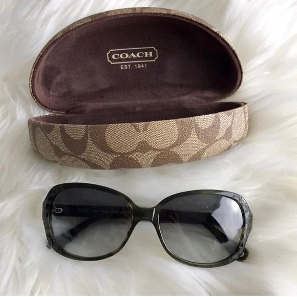 0b1dd68f9d62 Coach Accessories   Flash Sale Dark Green Sunglasses   Poshmark